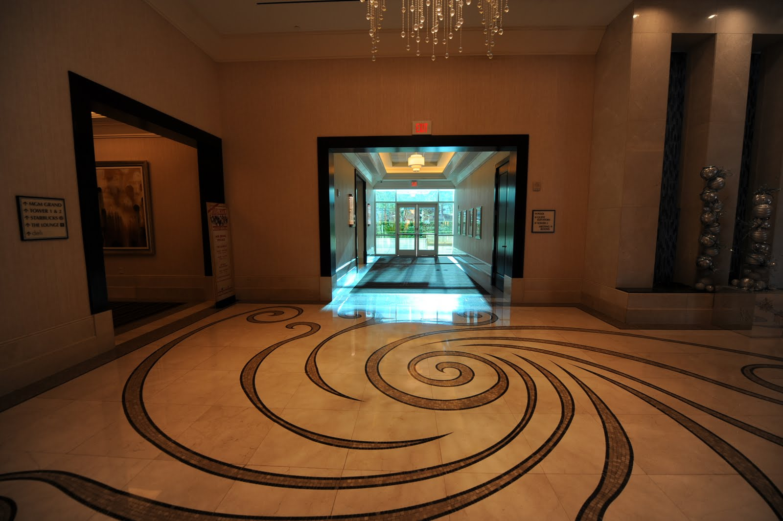 signature at mgm grand las vegas condos tower 3 lobby area